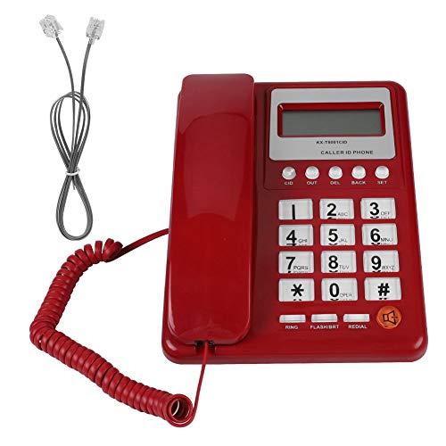 Goshyda Teléfono con Cable, teléfono Fijo de Escritorio con Cable Grande con Pantalla de identificación de Llamadas, para el hogar, Hotel, Oficina, etc.