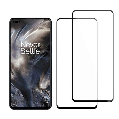Foluu [2-Pack Oneplus Nord 5G Screen Protector, Tempered Glass [Full Adhesive][Full Coverage] [Bubble-Free] [Anti Scratch] HD Clear High Responsive for Oneplus Nord 5G 2020 Release