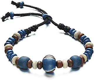 OPK Natural Style Clay Bead Handcrafted Extended Bracelet For Male