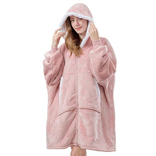KOMEX Wearable Hoodie Blanket Oversized Sweatshirt for Adult...