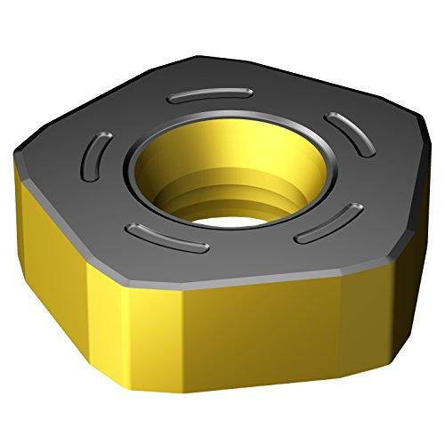 Sandvik Coromant 357N-2408M-KH 3330 Carbide Milling Insert, 0.12 mm Corner Radius, Negative Chip Breaker (Pack of 10)