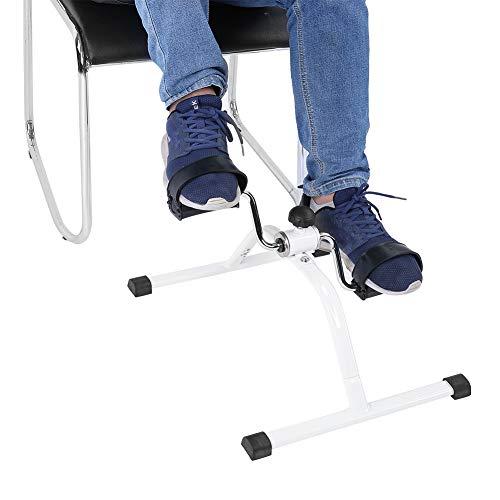 Ejercitador de pedales, Mini bicicleta de ejercicios multifuncional, Entrenador de pedales de mano, Ejercitador de bicicletas para ancianos para entrenamiento de piernas y brazos
