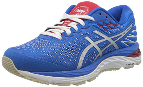 ASICS Women's Gel-Cumulus 21 Sneaker, Electric Blue White, 5 UK (38 EU)