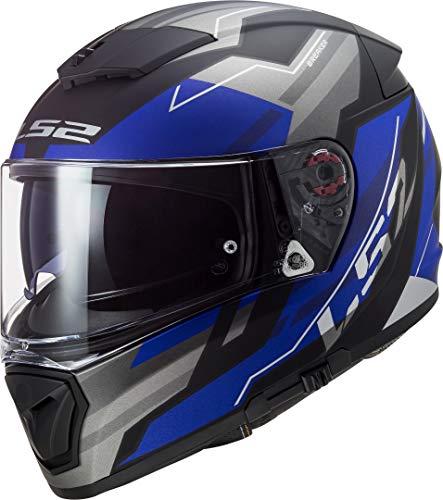 Casco moto LS2 FF390 BREAKER BETA MATT BLUE, Nero/Grigio/Blu, S