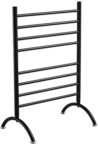 Home Equipment Portátil de acero inoxidable 304 con calentador de toallas Rack de secado con 8 varillas calefactoras de bajo consumo de energía 90w riel de toalla con calefacción eléctrica (blanco