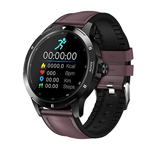 JXFF Multi-Dial Smart Watch K15 Rastreador De Fitness Rastro Cardíaco Monitor Reloj Hombre Mujer Bluetooth Deportes Smartwatch Teléfono para Android iOS,C