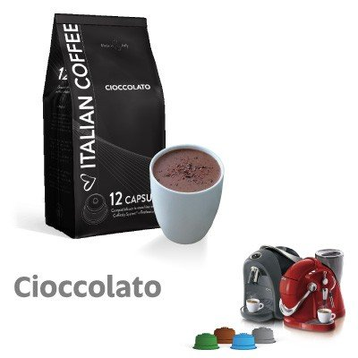 CAFFITALY 96 Cápsulas compatibles Chocolate Italian Coffee