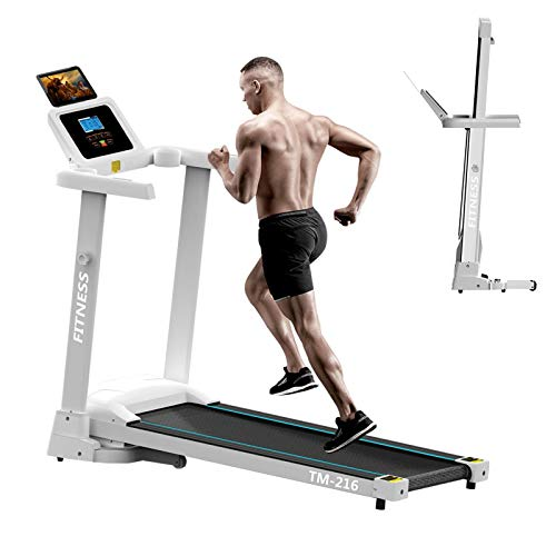 Treadmills for Home with Bluetooth Speakers, 2.0HP Folding Electric Treadmills, Low Noise 500 lbs Weight Capacity,LCD Display, Walking Jogging Machine for Home/Office Use