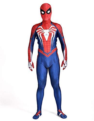 WOLJW Game Unisex Morph Kostuums SpiderMan Ps4 rol spelen Bodysuit Jumpsuits Cosplay Kostuums volwassen 3D-stijl