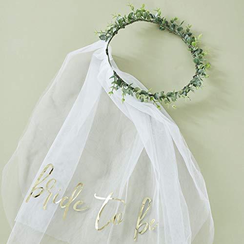 Ginger Ray Botanische Junggesellinnenabschiede Eukalyptus Brautkrone mit Schleier, Hochzeit