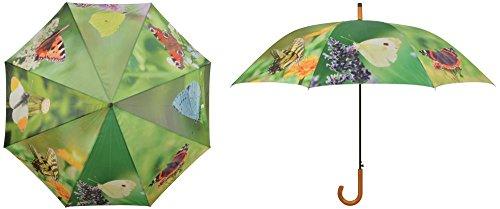 Esschert Design Regenschirm Schmetterlinge, 120 x 120 x 95, aus Metall/Synthetik, mit Kunststoffgriff