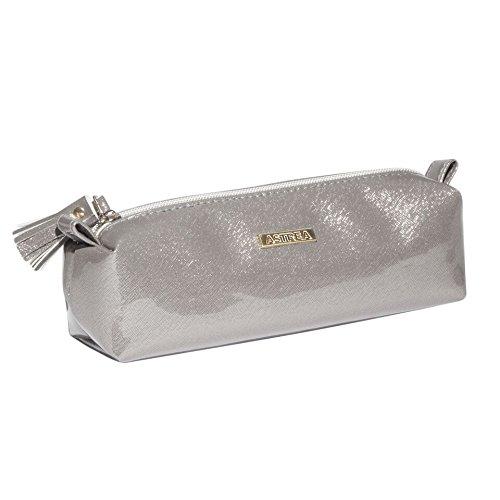SANJO Astrea Cosmetics potloodhouder, zilver, parelglans-afwerking, 20 cm
