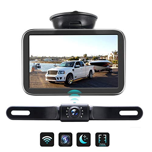 Wireless Backup Camera with Monitor Back Up Car Camera Rear View Camera for Sedans, Pickup Truck, Minivans Strong Signal and Clear Image ERT03 backup Cameras Vehicle