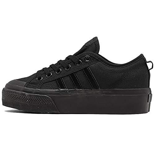 adidas Womens Originals Nizza Platform Casual Shoes Womens Fy1643 Size 7.5 Black/Black/White