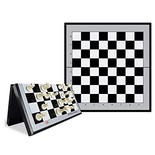 Juego De Ajedrez Internacional Magnético De Viaje: Juego De Mesa Plegable, Portátil Y Educativo,29.6cm x 28.6cm