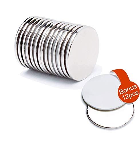 FEYG Magneti Adesivi, Magneti Neodimio Dischi 32x2 mm per magneti Frigorifero e magneti Lavagna Bianca, per Artigianato e Decorazioni