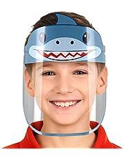 واقي للوجه، شفاف قابل للتعديل، مضاد للضباب، ومضاد للسقوط مع درع حماية لكامل الوجه للأطفال- شارك