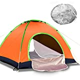 GLXQIJ Camping Tents For Family 2-4 Person,Waterproof Double Layer Dome Automatic Pop Up