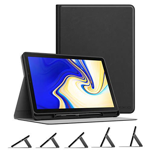 MoKo Funda para Samsung Galaxy Tab S4 10.5 con Stylus Soporte, Cubierta Ligera Anti-Choque Fución de Soporte Protector con Auto Estela/Sueño para Galaxy Tab S4 10.5' 2018 (SM-T830/SM-T835) - Negro
