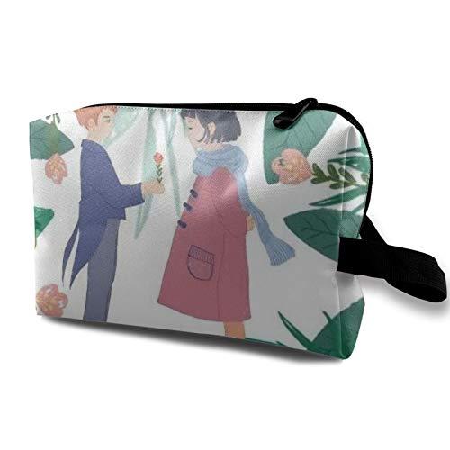 Bolsa de almacenamiento de lona de maquillaje de viaje, bolso de aseo portátil, pequeño organizador de cosméticos, bolsa de monedas para niñas, mujeres, hombres, niñas y niños