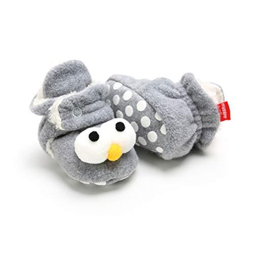 EDOTON Unisex Neugeborenes Schneestiefel Weiche Sohlen Streifen Bootie Kleinkind Stiefel Niedlich Stiefel Socke Einstellbar (0-6 Monate, C-Hellgrau)