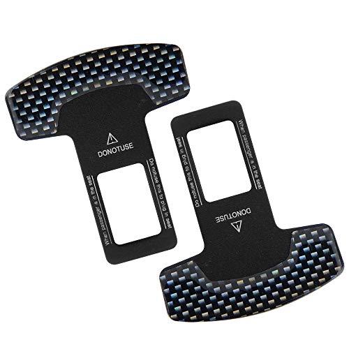 ATDIAG Car Seat Belt Clips 2Pcs, Universal Seat Belt Clips Carbon Fiber Alarm Stoppers for Car Seats Belt Buckles, Auto Metal Belt Plugs Car Seat Belt Silencers