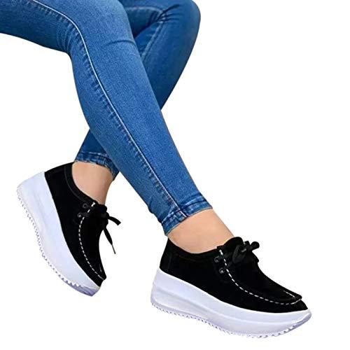 Donna Vulcanize Scarpe Moda Solido Piattaforma Scarpe Donna Lace-Up Partito Sneakers Plus Size Casual Scarpe per Ragazze