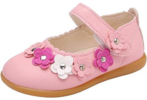 PPXID Fille Ballerine de Princess Chaussure de Marche -Rose 24