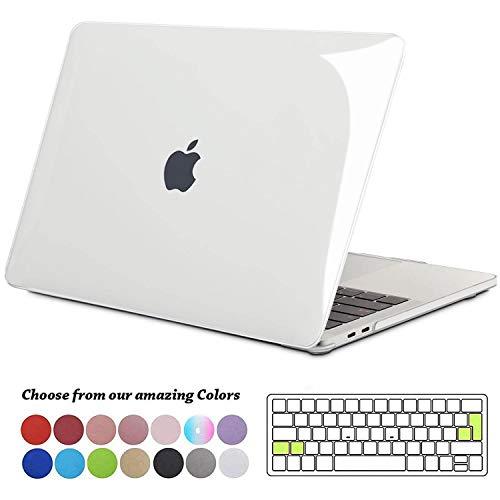 TECOOL Funda para MacBook Pro 13 2016 2017 2018 2019, Plástico Dura Case Carcasa + Tapa del Teclado para MacBook Pro 13.3 Pulgadas con/sin Touch Bar Modelo: A1706 A1708 A1989 A2159 - Transparente