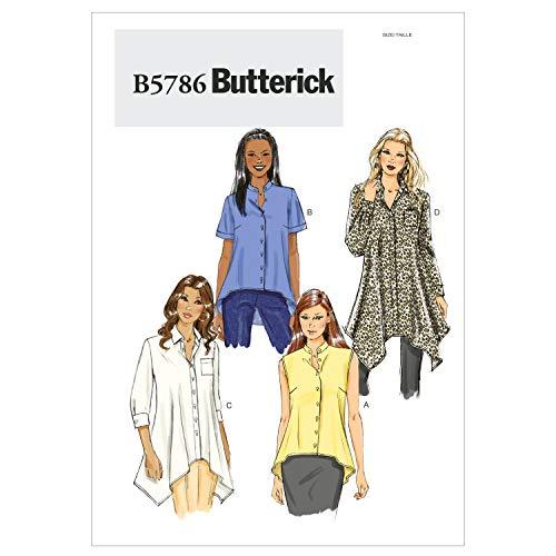 BUTTERICK B5786 - Patrón de Costura para Confeccionar Blusas, Camisas y túnicas de Mujer (Tallas 8 a 16 ó 34 a 42)