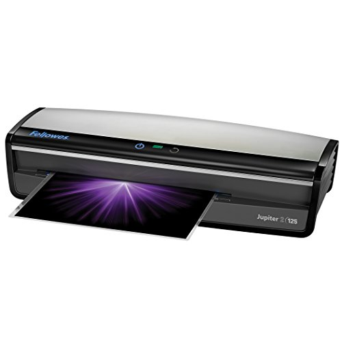 Fellowes Laminator  Jupiter 2 125, Rapid 1 Minute Warm-up Laminating Machine, with Laminating Pouches Kit (5734101)