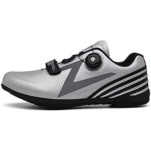 BHHT Zapatillas De Ciclismo para Hombres Zapatillas Sin Cerradura Ligeramente Transpirables Zapatillas...