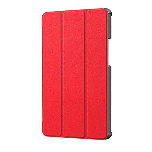IPOTCH Cuero de La PU Protective New Luxury Case Cover Skin para MediaPad M5 - Rojo