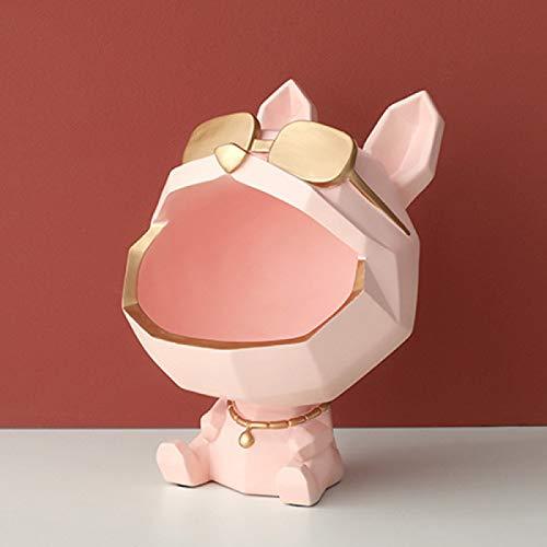 Mooyod Desktop Storage Box, Dog Big Mouth Home Decor Ornamental Resin Art Sculptures Figurines Home Decor Decorative Gift