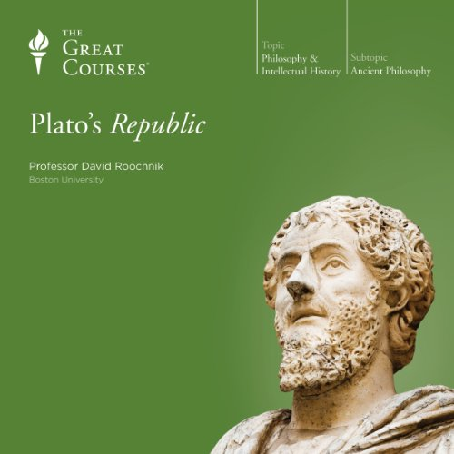 Plato's Republic                   Written by:                                                                                                                                 The Great Courses,                                                                                        David Roochnik                               Narrated by:                                                                                                                                 Professor David Roochnik Ph.D. Pennsylvania State University                      Length: 12 hrs and 14 mins     6 ratings     Overall 4.8