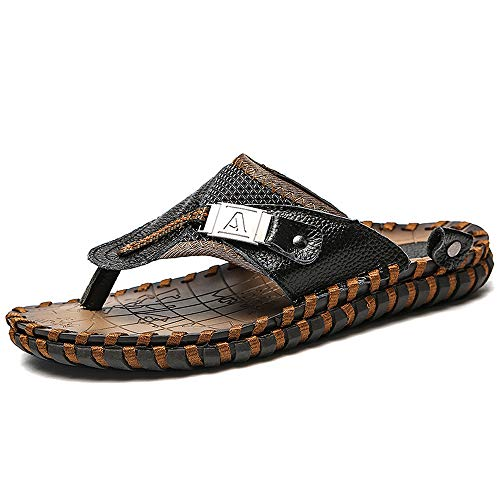 FFZC Mens Flip Flop Sandals Thong Indoor and Outdoor Beach Slippers