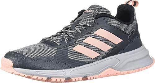 adidas Women's Rockadia Trail 3 Regular Fit Cloadfoam Running Sneakers Shoes, Grey, 8 M US