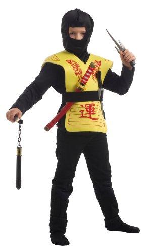 Caritan - 59449-j - Costume - Coffret Accessoires Ninja - Jaune