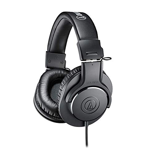 Audio-Technica ATH-M20X Professional Studio Monitor Headphones, Black