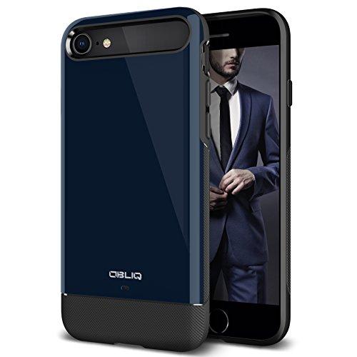 Obliq iPhone 8 Case/iPhone 7 Case, OBLIQ [Dual Meta] Protective Slim Dual Composite Vibrant Luxury & Enhanced Grip Case for Apple iPhone 8 (2017)/ iPhone 7 (2016) (Deep Blue)