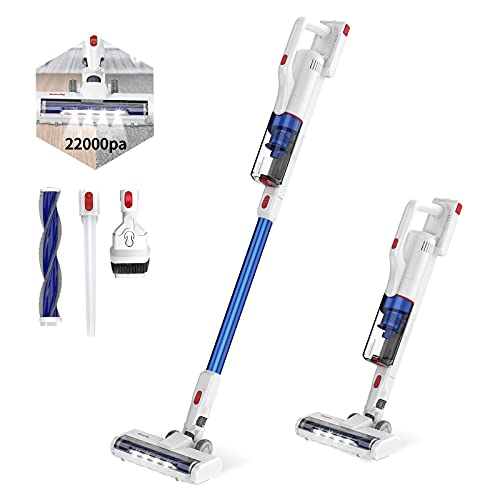 Cordless Vacuum Cleaner, Vistefly Stick Vacuum 22000Pa with Rechargeable...