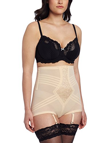 Rago Women's Hi Waist Brief Panty, Beige, 2X-Large (34)