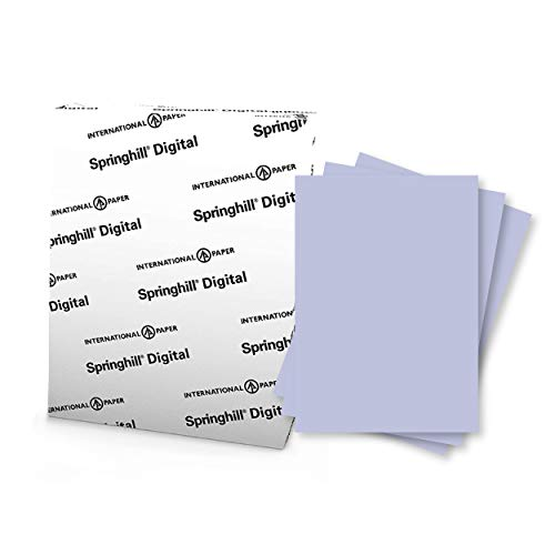 "Springhill 8.5"" x 11"" Orchid Purple Colored Cardstock Paper, 67lb Vellum Bristol, 147gsm, 250 Sheets (1 Ream) – Premium Lightweight Cardstock, Vellum Printer Paper with Textured Finish – 057000R"