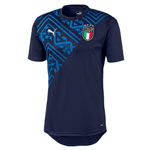 Puma Herren FIGC Stadium Away Jersey T-shirt, Peacoat-Team Power Blue, M
