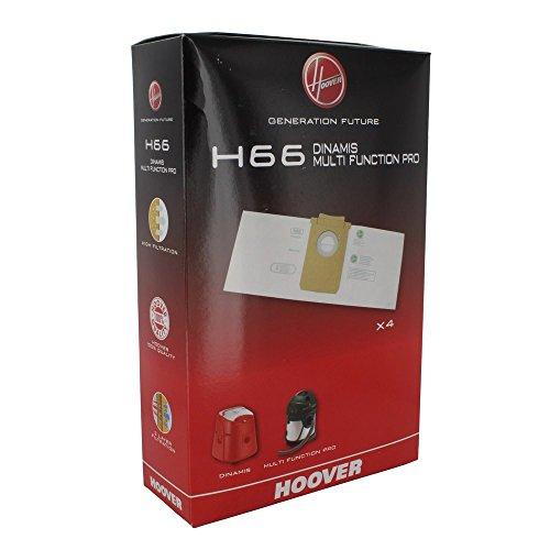 Hoover 35600852 H66 Sacchetti per Dinamis e Multi Function PRO (x4), 0 Decibel, Paper