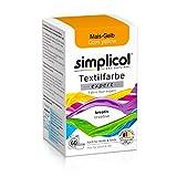 Simplicol Expert Tintura Tessuti Lavatrice o Colorazione Manuale: Tingi, Colora e Ripristina Tessuti e Vestiti - Giallo