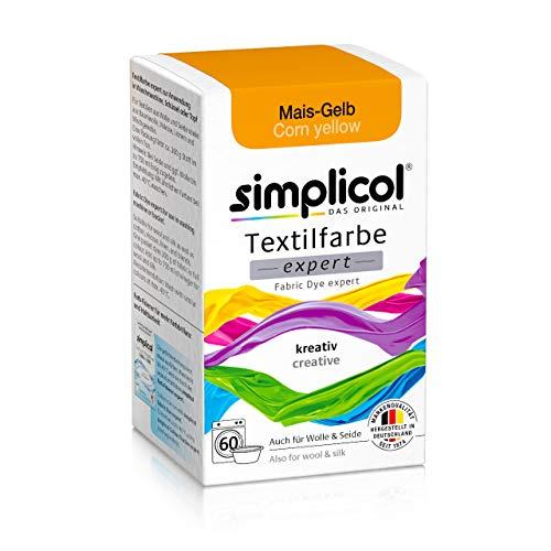 Simplicol Textilfarbe expert Mais-Gelb 1701: Farbe für kreatives, einfaches Färben in der Waschmaschine oder manuell