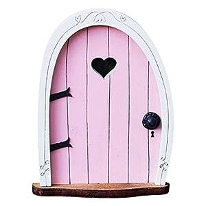 yantan pixie elf fairy door fairy door wooden fairy door tree decorations elf door window door home art pink