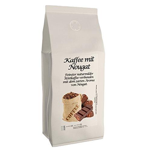 Aromakaffee - aromatisierter Kaffee Nougat 500 Gemahlen - Spitzenkaffee - Schonend Und Frisch In Eigener Rösterei Geröstet