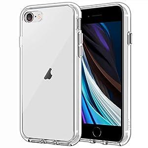"JEDirect iPhone SE 第2世代、 iPhone7 iPhone8 ケース バンパー 衝撃吸収 傷つけ防止 (クリア)"""